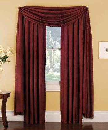 Red Stella Grommet Curtain Panel