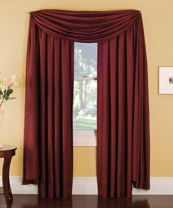 Red Stella Grommet Curtain Panel