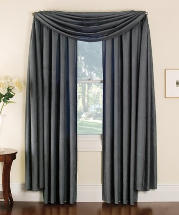 Silver Stella Grommet Curtain Panel