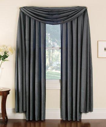 Silver Stella Grommet Curtain Panel