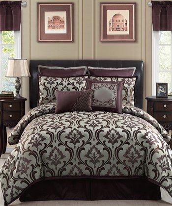 Plum Winchester Queen Comforter Set