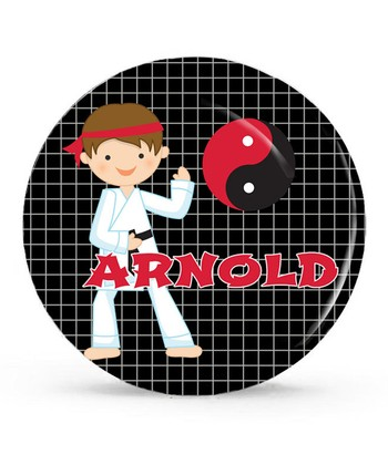 Karate Boy Personalized Plate