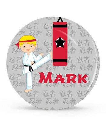 Karate Personalized Plate