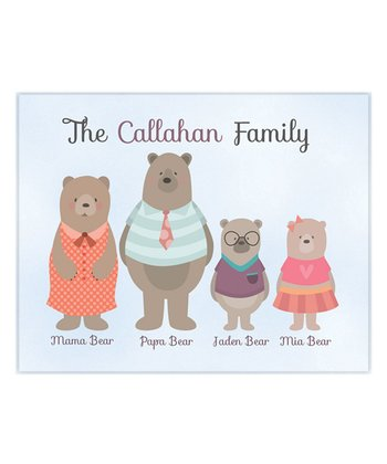Four Bears Family Wall Art Print