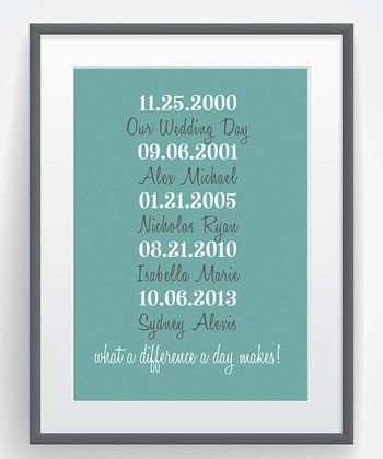 'What A Difference A Day Makes' Family Wall Art Print