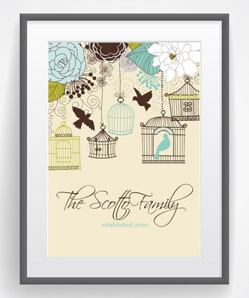 Bird on a Wire Family Personalized Print