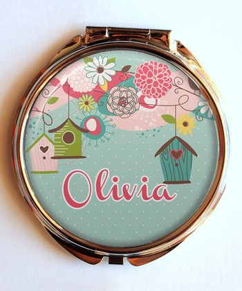 Beautful Birdhouse Personalized Compact Mirror