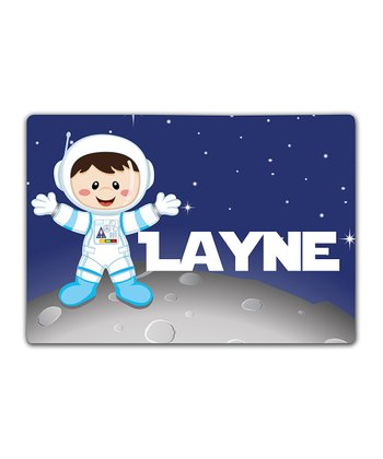 Astronaut Boy Double-Sided Personalized Place Mat