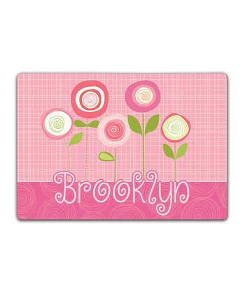 Pink Blossoms Double-Sided Personalized Place Mat