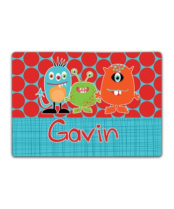 Little Monsters Double-Sided Personalized Place Mat