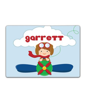 Little Aviator Double-Sided Personalized Place Mat