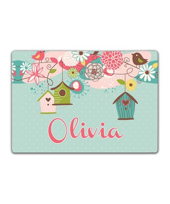 Beautiful Birdhouse Double-Sided Personalized Place Mat