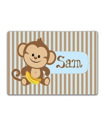 Monkey Double-Sided Personalized Place Mat