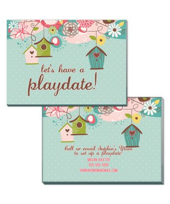 Birdcage Playdate Calling Cards - Set of 20