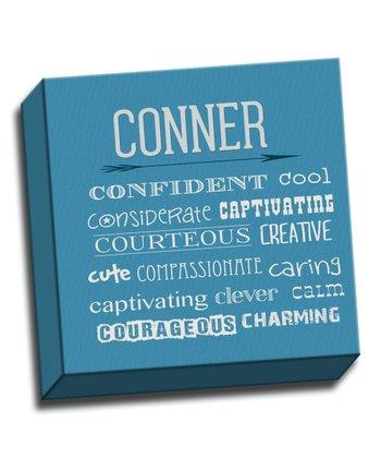 Blue Letter C Character Trait Personalized Canvas