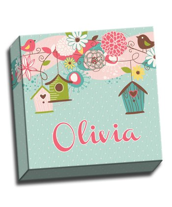 Beautiful Birdhouse Personalized Canvas