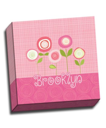 Pink Blossoms Personalized Canvas