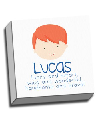 Red-Haired Boy Personalized Canvas