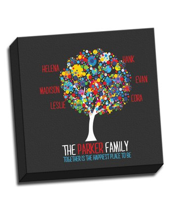 Paint Splatter Family Tree Personalized Canvas