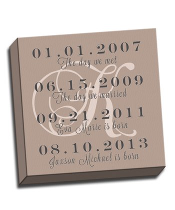 Dates to Remember Personalized Canvas
