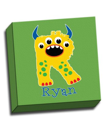 Monster Letter Personalized Canvas