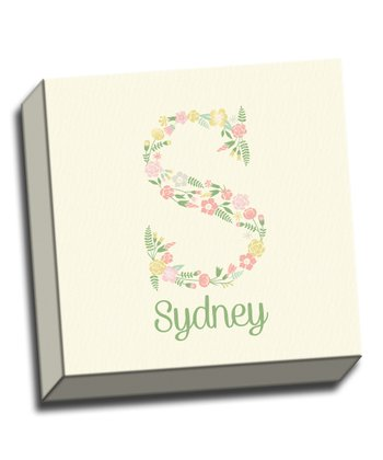 Flower Letter Personalized Canvas