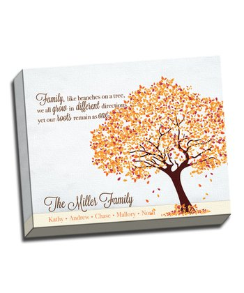 Family Tree Roots Personalized Canvas