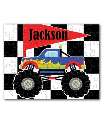 Monster Truck Personalized Puzzle