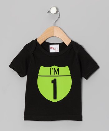Black & Lime Interstate Personalized Tee - Infant, Toddler & Kids