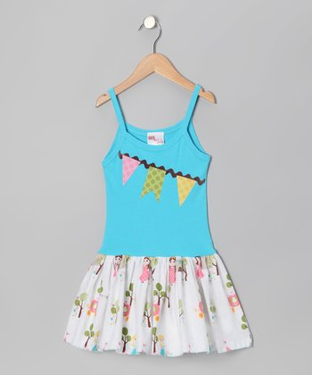 Turquoise Garland Dress - Infant, Toddler & Girls
