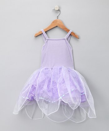 Lilac Velvet Fairy Princess Dress - Girls