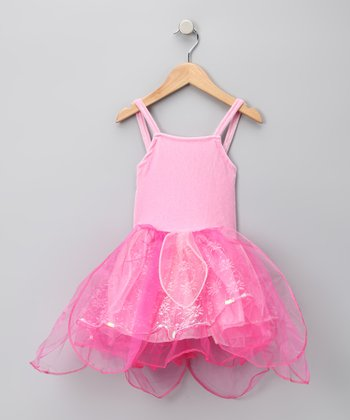 Pink Velvet Fairy Princess Dress - Girls