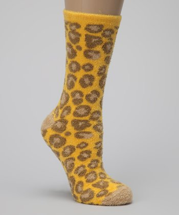 Yellow Leopard Summer Breeze Socks Set