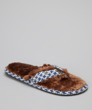 Chocolate & Blue Minx Stratus Faux Fur Sandal