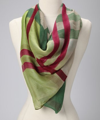 Green Big Plaid Scarf