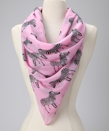 Pink Zebra Crossing Scarf