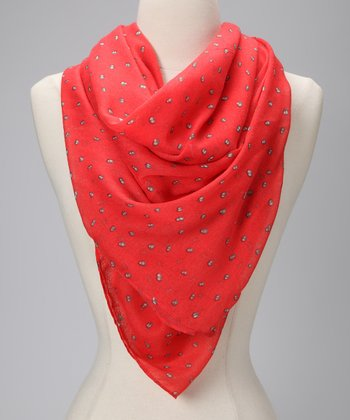 Coral Night Light Scarf