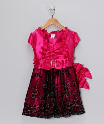Just Kids Hot Pink Dress & Shrug
