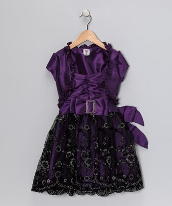 Just Kids Purple Dress & Shrug