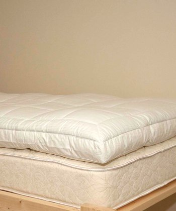 White Hypoallergenic Dorm Twin XL Mattress Topper