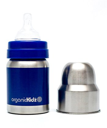 Blue Wide-Mouth 4-Oz. Bottle