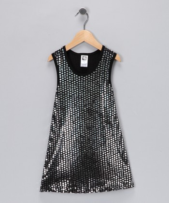 Silver Sequin Dress - Toddler & Girls