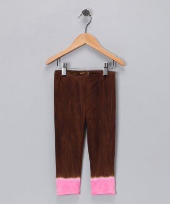 Pink & Brown Gypsy Love Leggings - Toddler & Girls