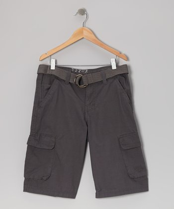 Dark Gray Ripstop Cargo Shorts - Boys
