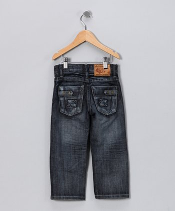 JB Original Vintage Dark Wash Brushed Jeans - Toddler & Boys