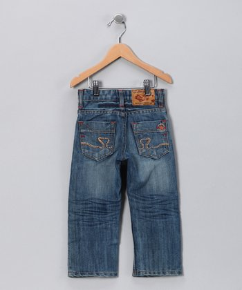 JB Original Vintage Light Wash Brushed Jeans - Toddler & Boys