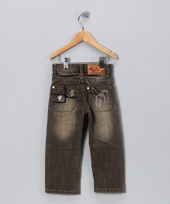JB Original Vintage Gray Hand-Brushed Jeans - Toddler & Boys