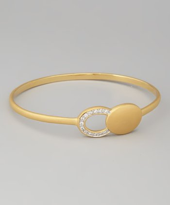 Yellow Gold Shimmer Bangle