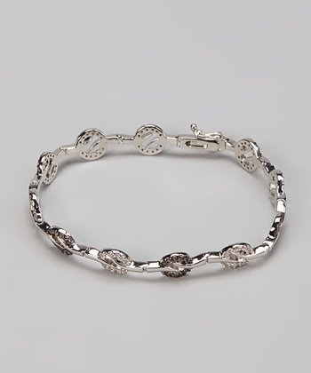 Chocolate & Silver Ring Bracelet