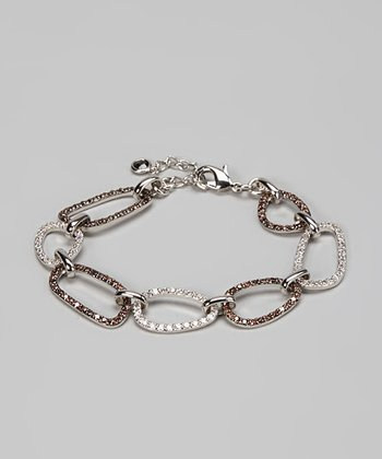 Chocolate & Silver Large Link Bracelet